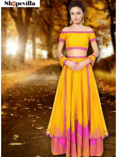 Exotic Yellow Navratri Lehenga Choli-FKFBL064