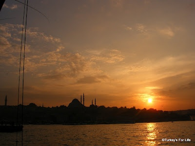 Süleymaniye Mosque across the Golden Horn in Istanbul