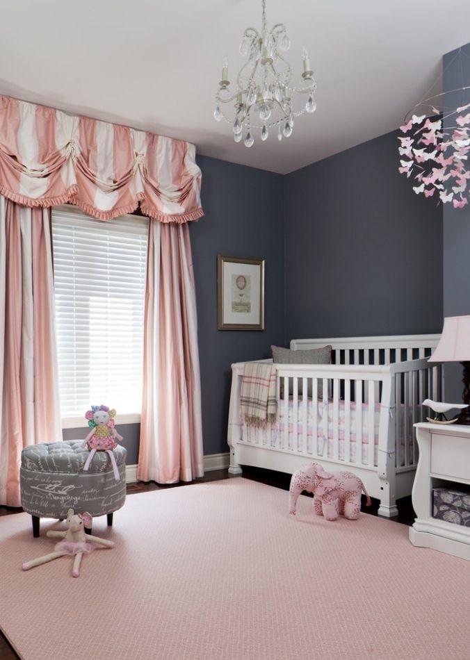 Pink and grey nursery