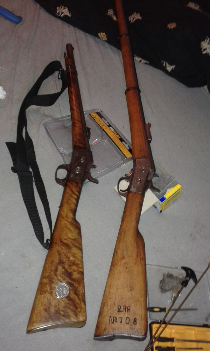 long rifle and carabin in 50/70 black powder,1871 and 1872