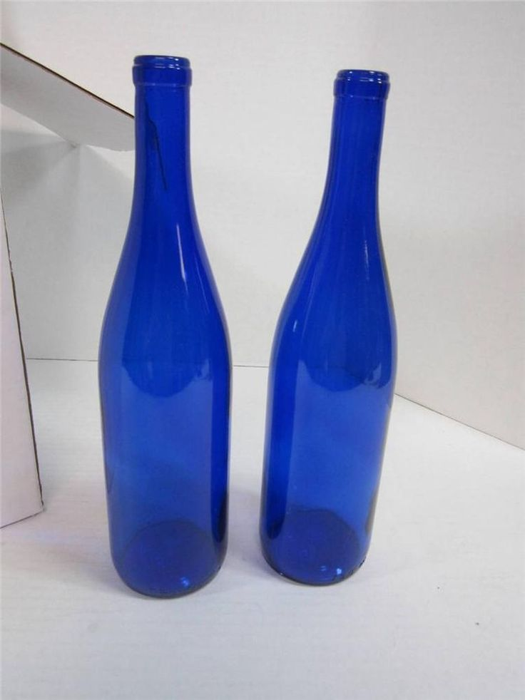Cobalt blue glass wine bottles 750 ml wine making supplies for Bottle painting materials