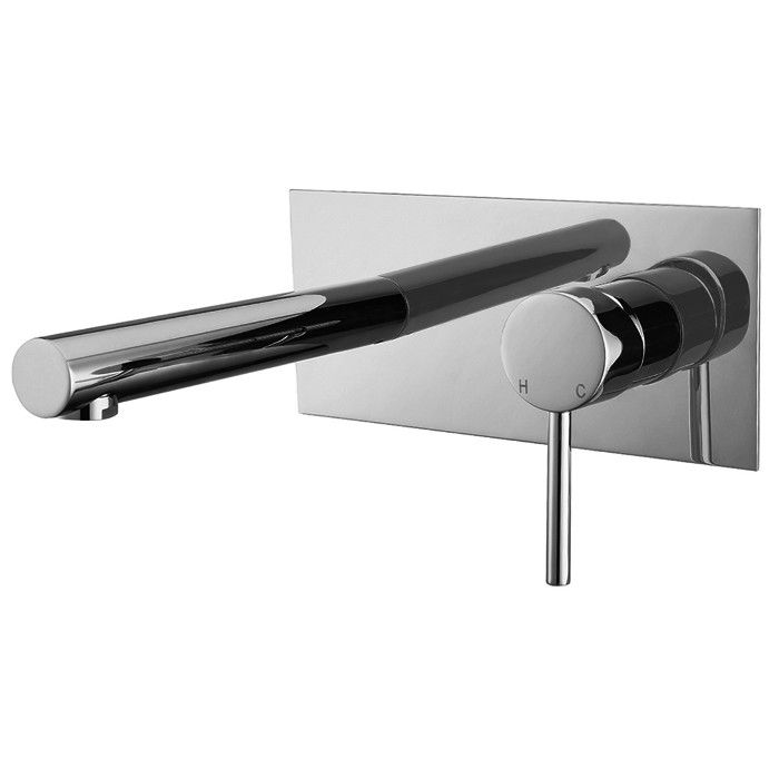 MC03-C meir chrome wall mounted basin mixer