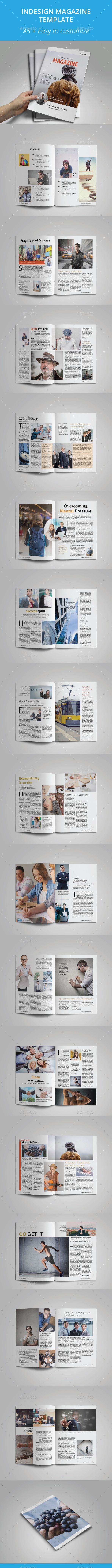 A5 Indesign Magazine — InDesign INDD #A5 Magazine #multipurpose • Available here → https://graphicriver.net/item/a5-indesign-magazine/16396046?ref=pxcr