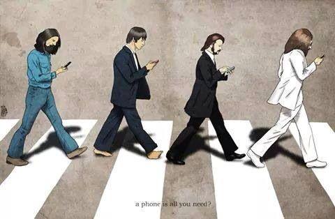 Abbey Road Beatles all U need is phone