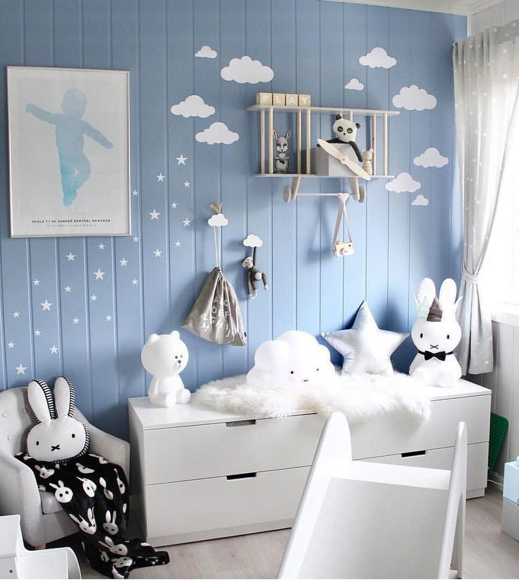 24 best kinderzimmer blau images on pinterest child room babies and babys - Raffrollo kinderzimmer blau ...