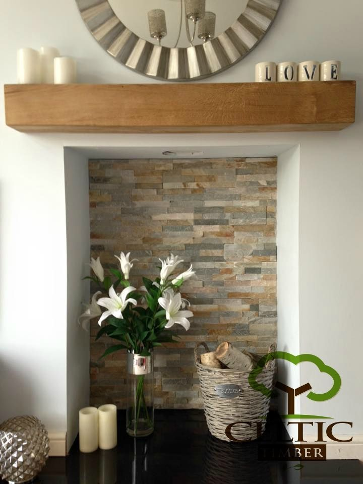 details about solid french oak beams floating shelf mantle piece fire place surround inglenook - Decorative Fireplace