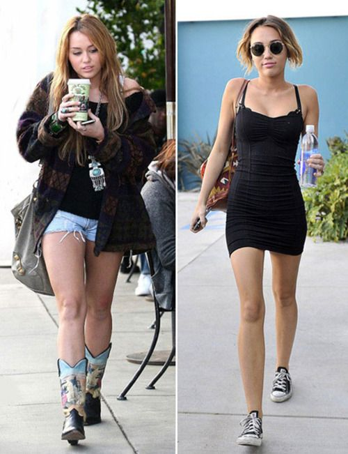 Not usually a big Miley fan, but I am always impressed by any celeb that can get in shape healthily :)
