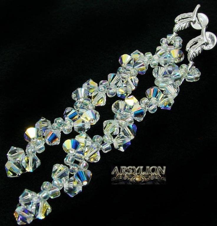 ARSYLION kolczyki Swarovski Crystal AB długie