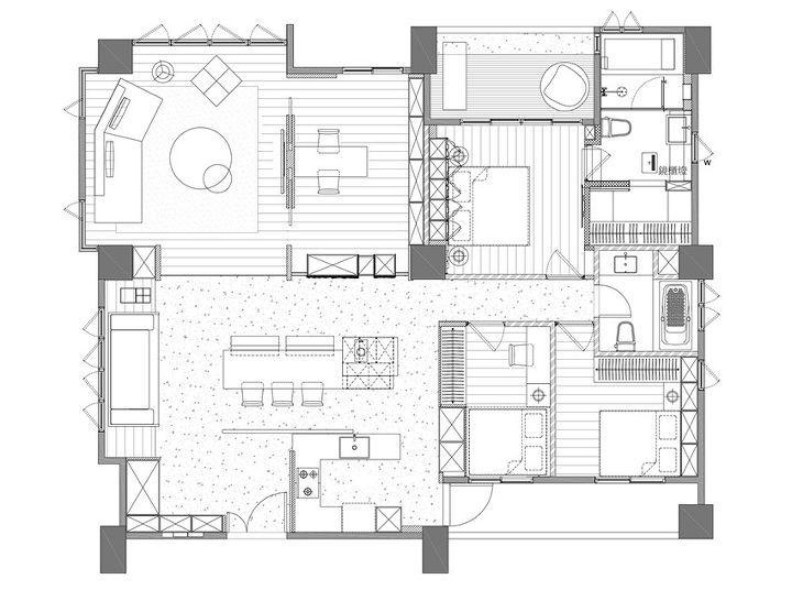 오늘은 친환경적이면서도 고급스러운 아파트 인테리어를 소개해 드려요 One Work Design(工一設計) 스튜디오가 리모델링한 대만 이란시에 있는 41평 아파트 입니다 스톤과 마블, 원목, 그리고 B&B Italia의 Michel Club 소파 등 고급스런 소재와 퍼니처들로 과감한 라인이 돋보이는 미니멀리스트 아파트 인테리어에요 요즘 일찍 은퇴하고 한적한 곳에서 좋은집 짓고 사시는 분들 많이 계시는데, 은퇴 후 여생을 보낼만한 세련되..