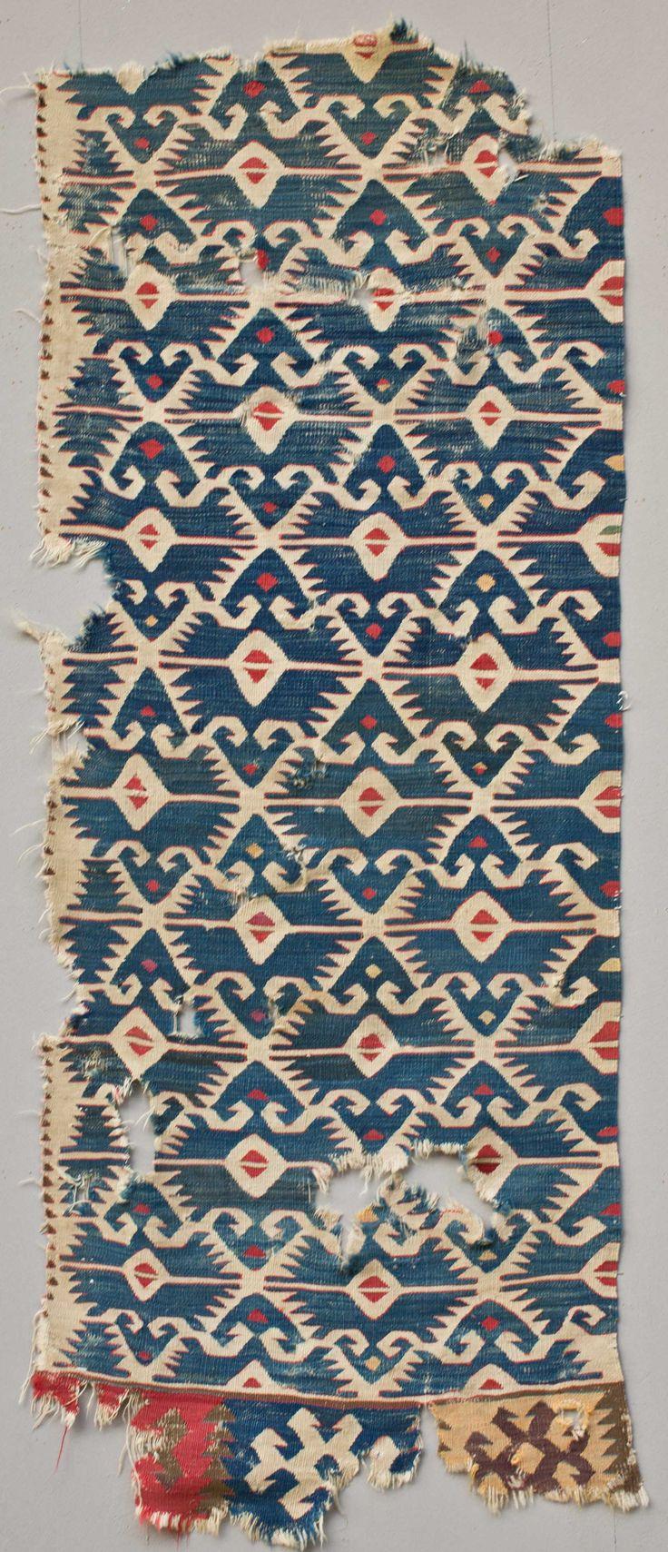 Anatolian Kilim Fragment 19th c.