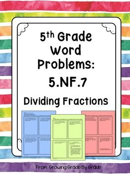 fraction story problems 5th grade pdf