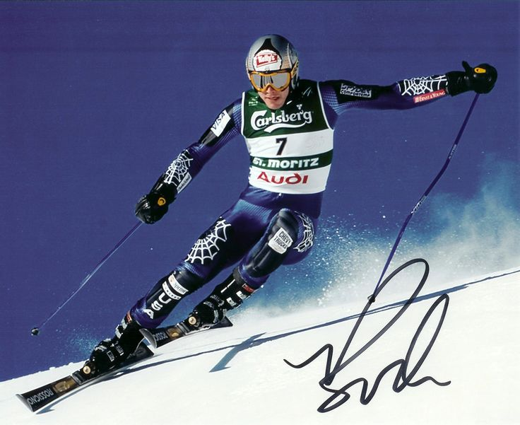 bode miller | Bode Miller Autographed Olympic 8x10 Photograph