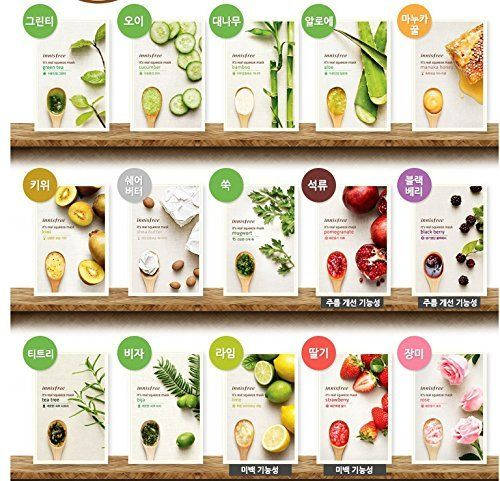 Amazon.com : Innisfree It's Real Facial Mask Sheet x 15 sheets : Facial Treatment Products : Beauty