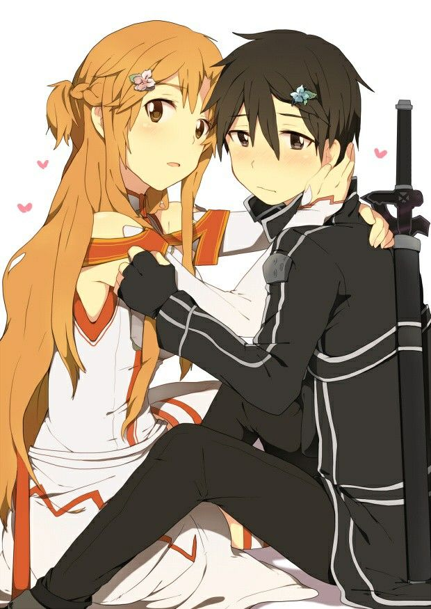 17 best images about kirito x asuna on pinterest happy watercolor print and couple. Black Bedroom Furniture Sets. Home Design Ideas