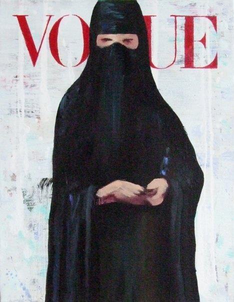 burka vs vogue covers calligraphy art identity