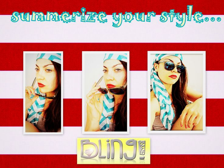 summer is officially here!!! It's time to summerize your style!!! Visit:https://www.facebook.com/BlingbyMV  #summer #scarf #MariaVeniou #blingbyMV #shades #sun #sunglasses #style #fashion #color #girls #look #greece #pireaus