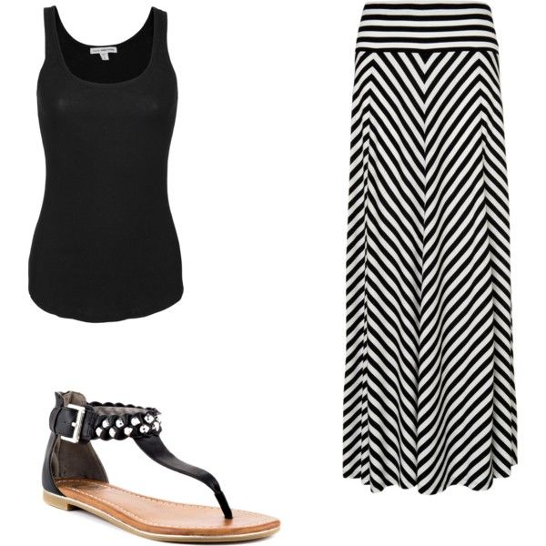 black and white maxi skirt my style