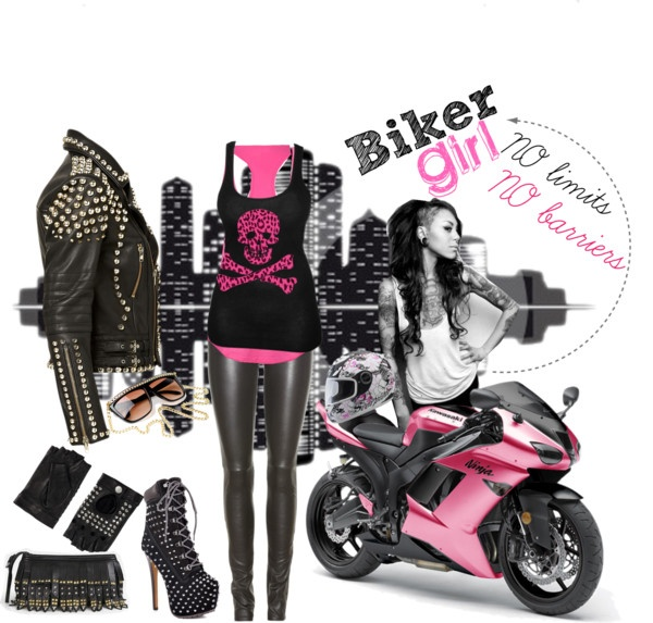 """Biker Girl"" by fluminitza on Polyvore"