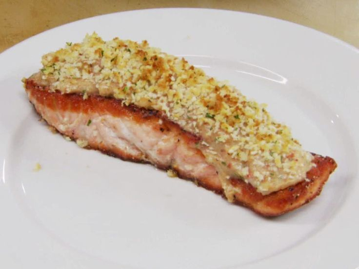 Shrimp Mousse Topped Salmon #myplate #protein
