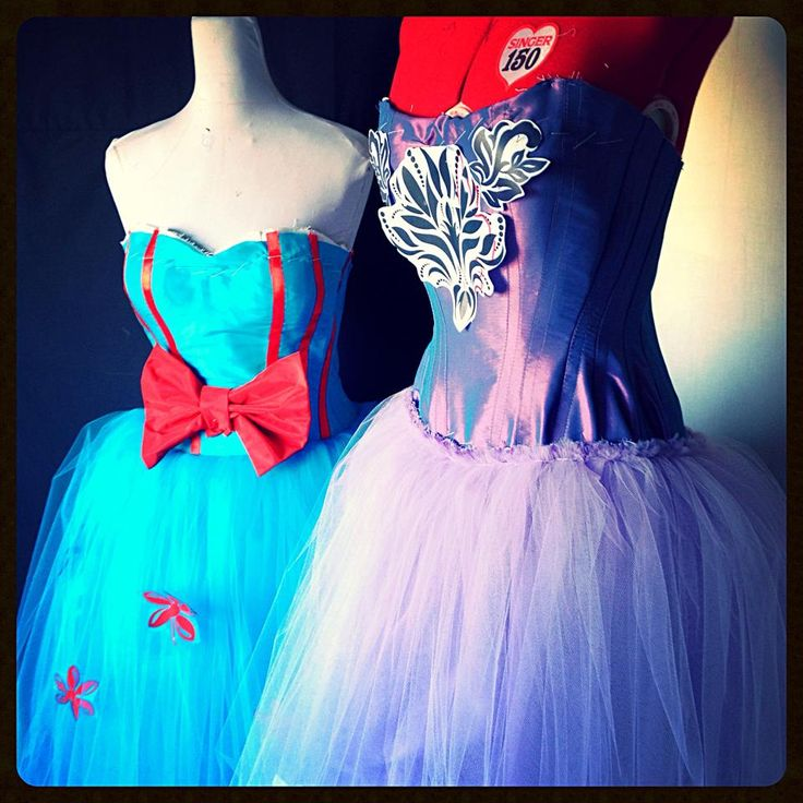 Purple and lihjt blue Prom dresses work in progress  www.decaycouture.com