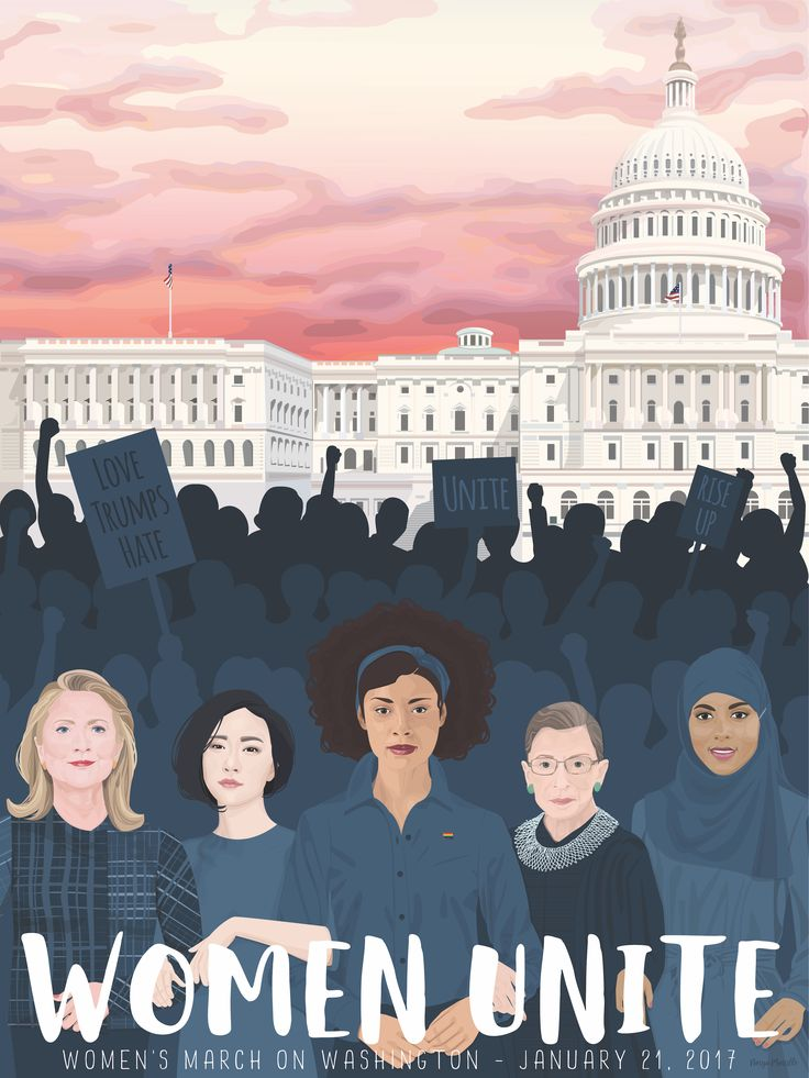 URI graduate creates online poster for Women's March on Washington, Jan. 21 – URI Today