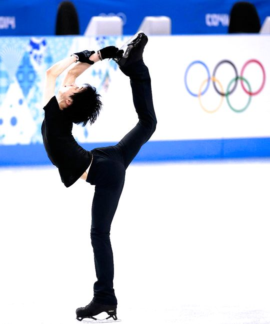 """The Spectacular Spins of Yuzuru Hanyu: The Biellmann Spin """"The Biellmann spin is an upright figure skating spin in which the skater forms a teardrop shape with their body. The position requires very..."""