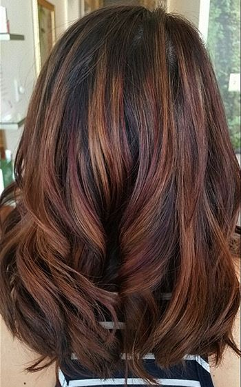 Image result for hair mahogany highlights