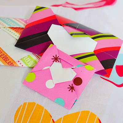 How to Fold an Origami Heart Envelope