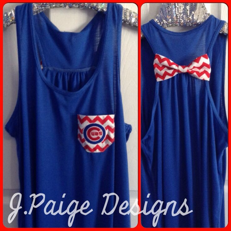 Chicago Cubs Tank Top $25 To order- email jpaigedesigns13@gmail.com