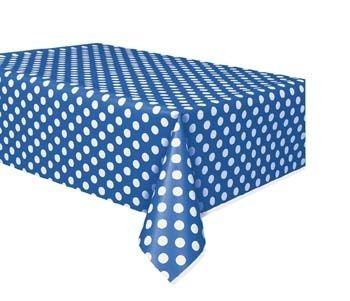 plastic tafelkleed Polkadot Blue
