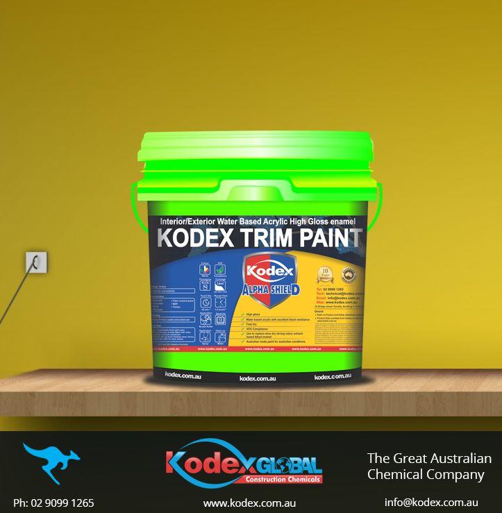 Give ravishing look to windows and doors of your house with Kodex Trim Paint. http://www.kodex.com.au/wp-content/uploads/2015/02/Kodex-Trim-Paint.pdf #Paint #Primer KodexTrimPaint #Coating #Decor