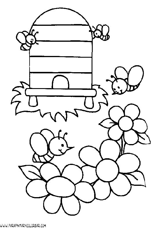 abeja para colorear - Google Search | Per pintar | Pinterest ...