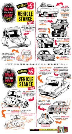 how to draw vehicles easy