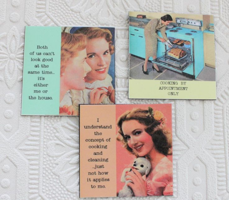 Funny Magnets for Housework Hater Three Sassy Sayings by GreenGypsies on Etsy https://www.etsy.com/listing/106688076/funny-magnets-for-housework-hater-three