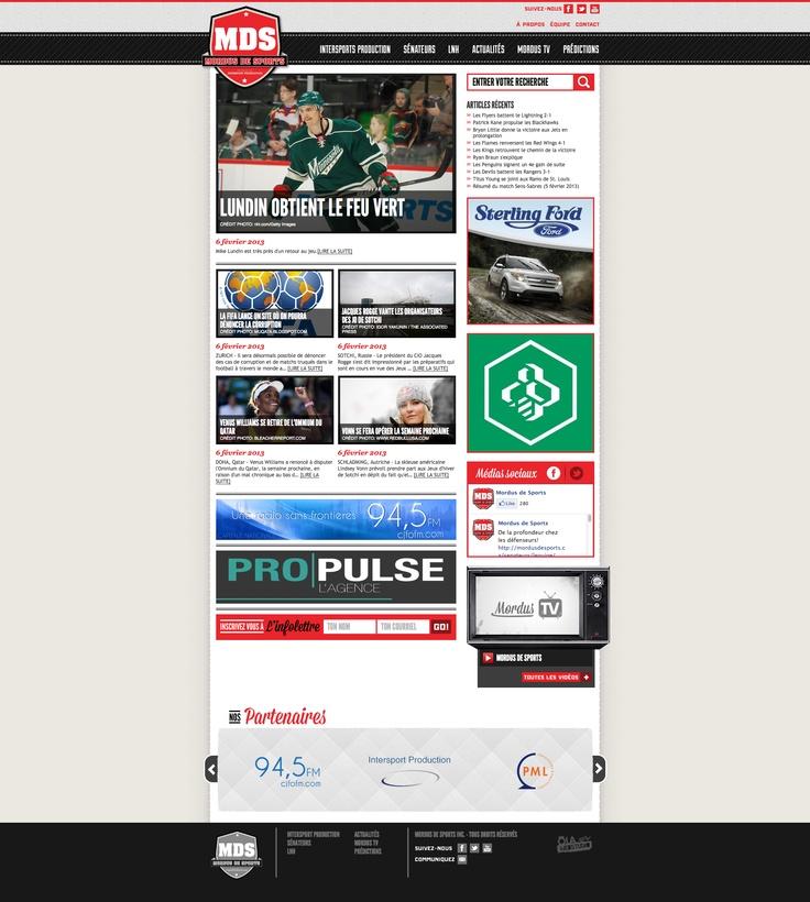Mordus de sports #webdesign #gatineau #ottawa #websitedesign