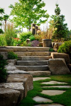 Traditional Landscape Rock Gardens Design Ideas, Pictures, Remodel, and Decor