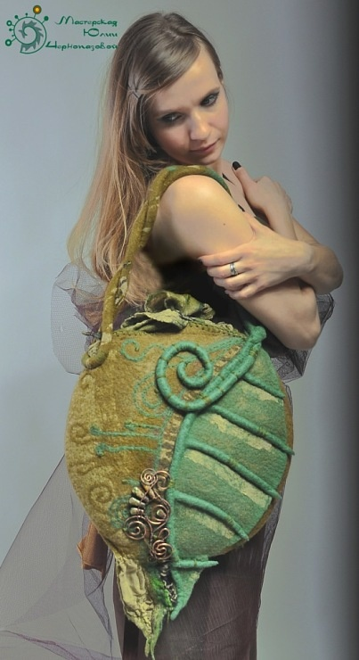 Gallery.ru / Фото #23 - Валяные сумки и аксессуары к ним ...