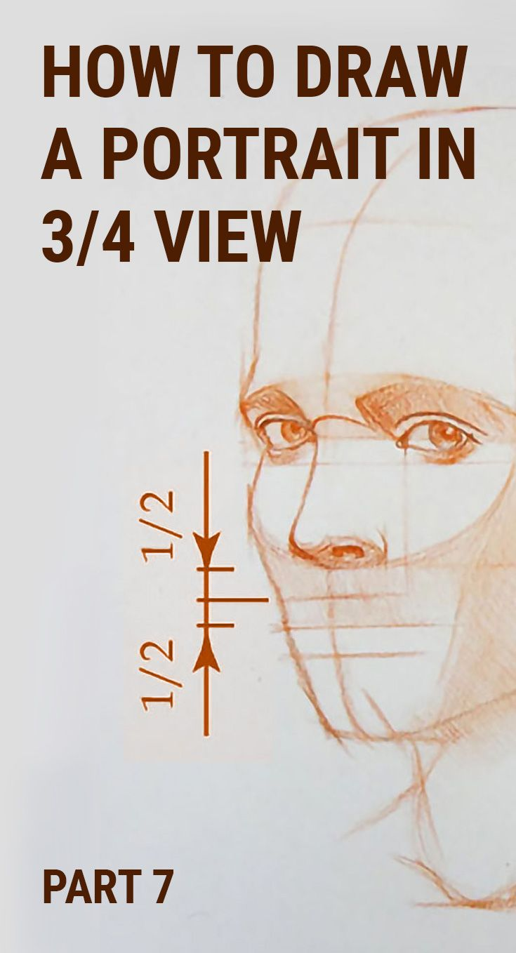 How to Draw a Portrait in Three Quarter View Part 7