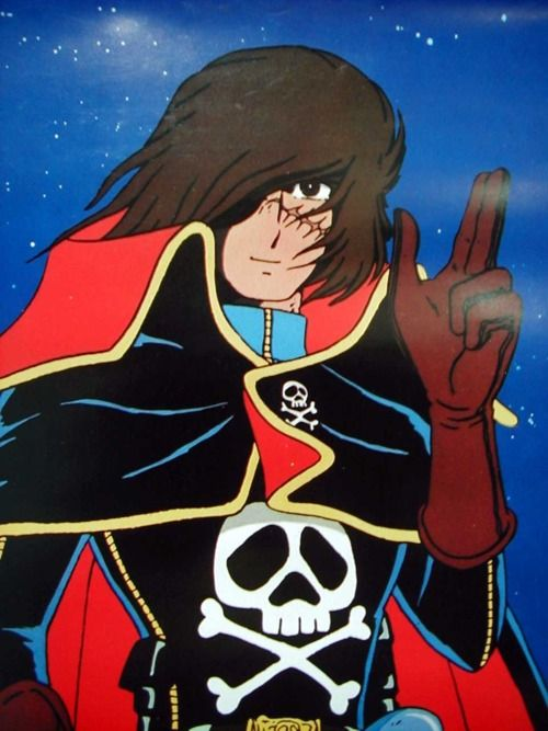 the Harlock salute
