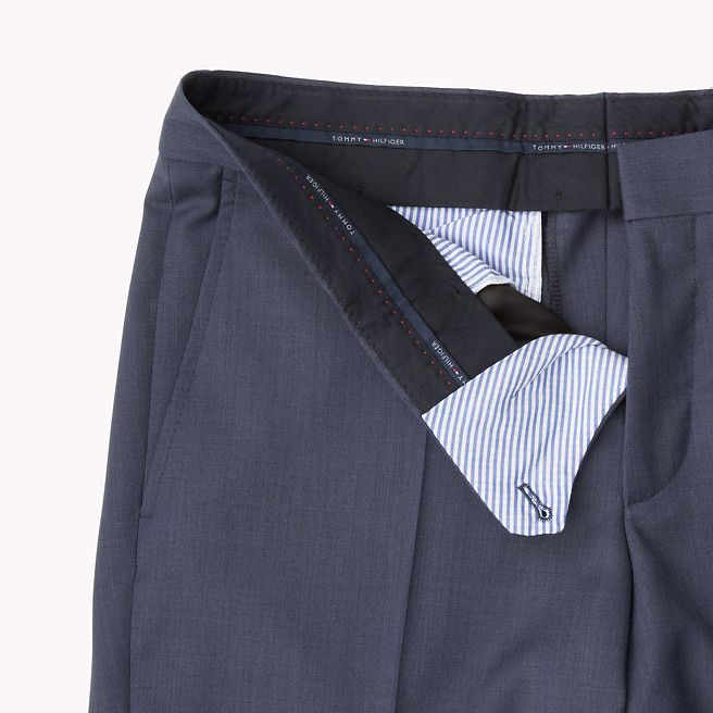 Tommy Hilfiger Rhames Fitted Pant - 425 (Blue) - Tommy Hilfiger Trousers - detail image 3