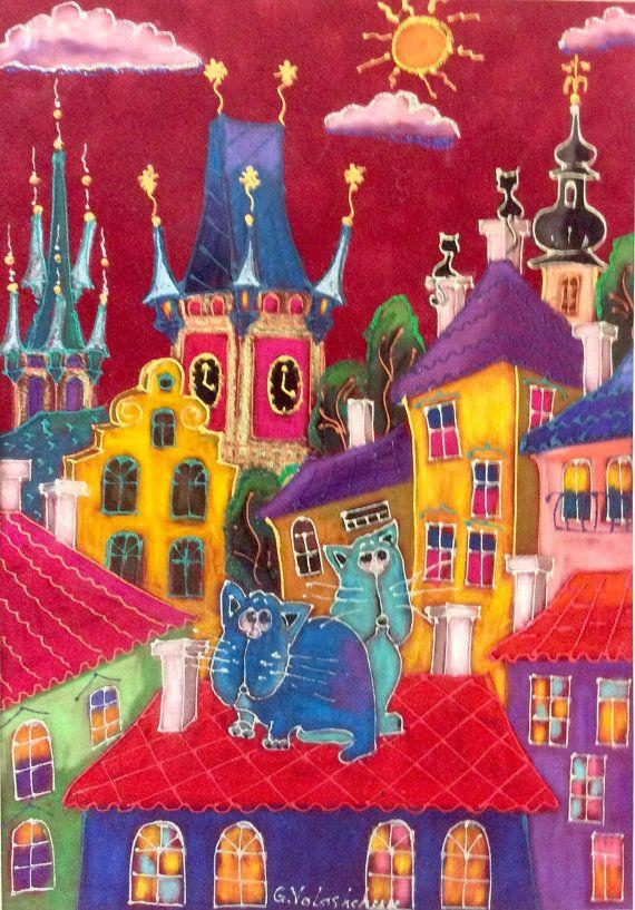 Fairy Prague pastel on velvet paper