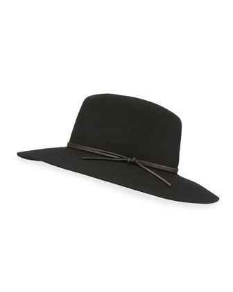 Wool-Felt Wide-Brim Fedora by Neiman Marcus at Neiman Marcus Last Call.