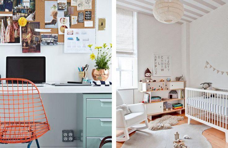 Office / Nursery Combo Inspiration | via Ann-Marie Loves