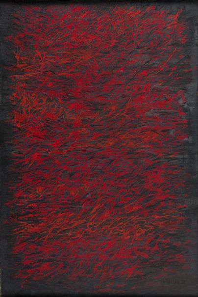 Roman Opałka - Czerwone i czarne, 1959 r.