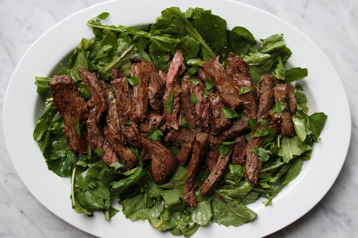 Mustard Marinated Flank Steak + Arugula Salad – The Defined Dish