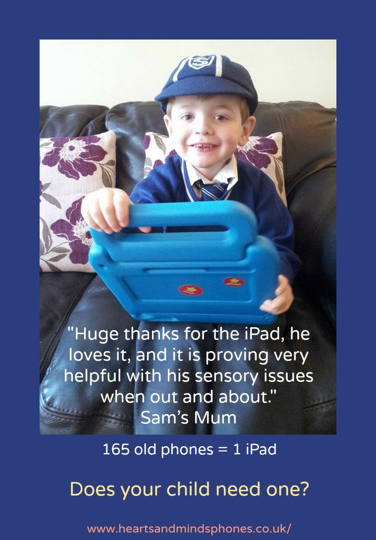 Sam's new iPad helps with his sensory issues