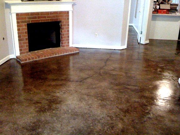 17 best images about floors on pinterest black stained for How to care for stained concrete floors