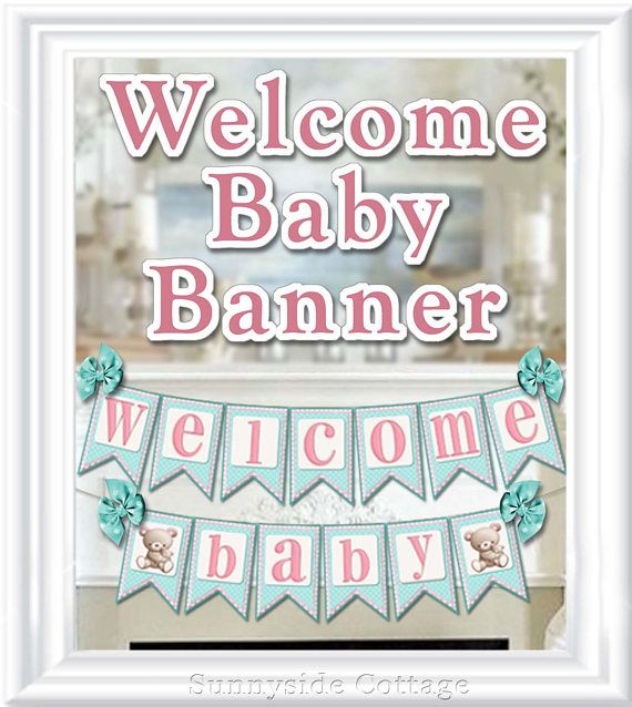 WELCOME Baby BANNER Baby Shower and Home Decor Banner diy
