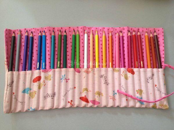 Trousse à crayons à rouler - Handmade by anna