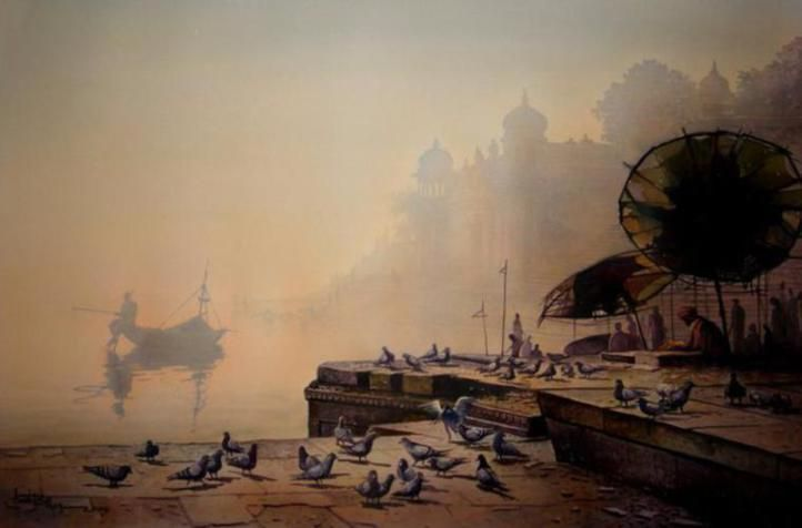 Amit Bhar Indian Watercolor Paintings - Fine Art Blogger